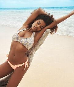 Dół bikini brazylijski - high leg corail.