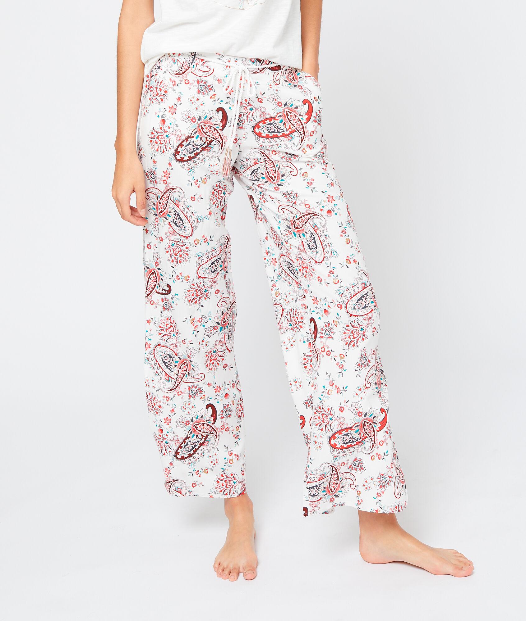 KENZA Spodnie w kaszmirowy deseń