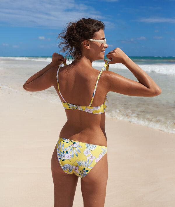 Klasyczny dół bikini, kwiatowy deseń;${refinementColor}