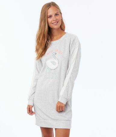 Sukienka bluza homewear ecru.