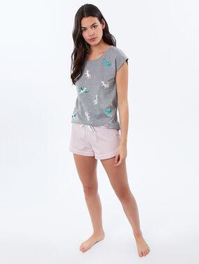 T-shirt w dinozaury i jednorożce gris.