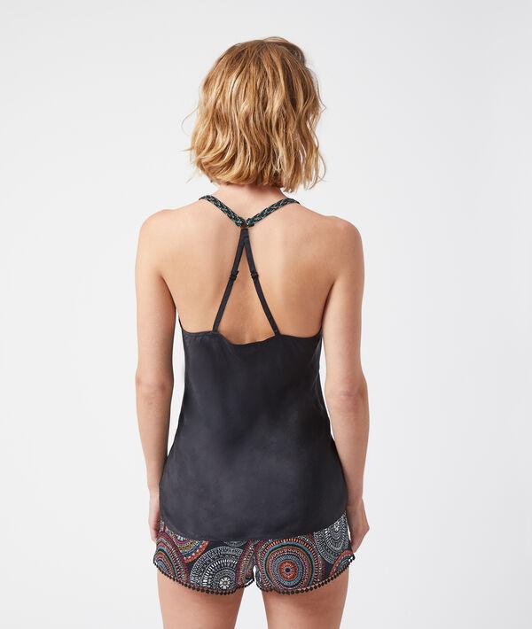Koszulka z ramiączkami skrzyżowanymi na plecach;${refinementColor}