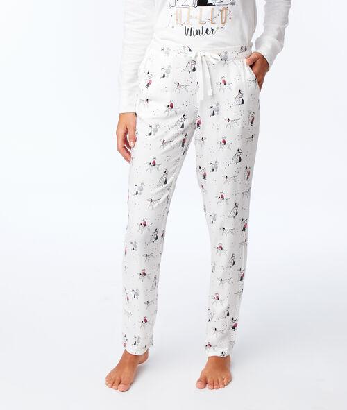 Spodnie z motywem kotka i pieska