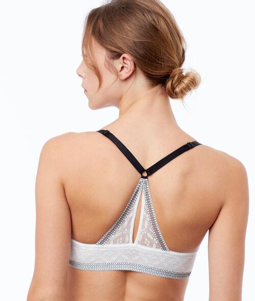 Biustonosz  - klasyczny biustonosz usztywniany z wycięciem na plecach w stylu bokserskim