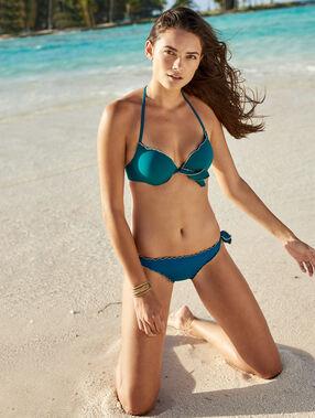 Dół bikini wiązanego bleu vert.