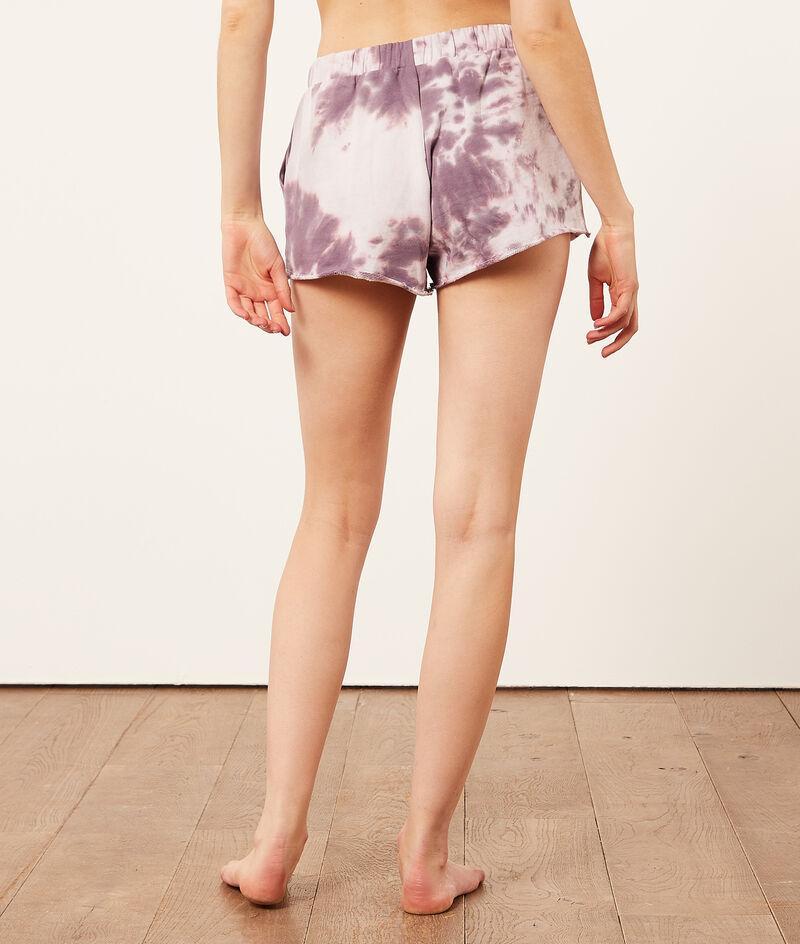 Spodenki od piżamy z nadrukiem tie dye;${refinementColor}