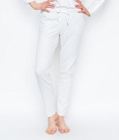 Spodnie w stylu jogging ecru.