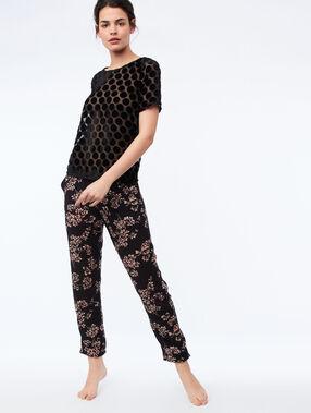 Satynowe spodnie noir.