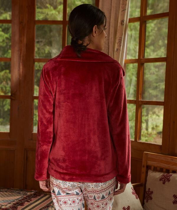 Piżama trzyczęściowa z napisem 'même pas froid'