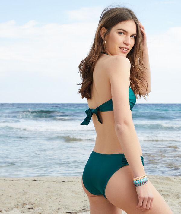 Wiązany kostium kąpielowy typu bandeau bez fiszbin z cienkimi miseczkami;${refinementColor}