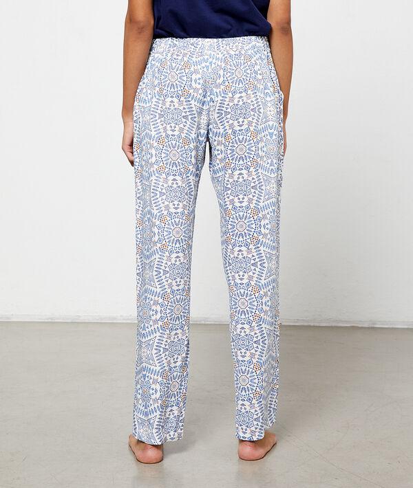 Wzorzyste spodnie z wiskozy Ecovero ;${refinementColor}