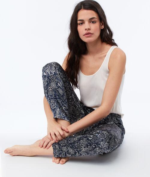 Satynowe spodnie od piżamy