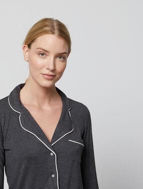 Koszula od piżamy anthracite.