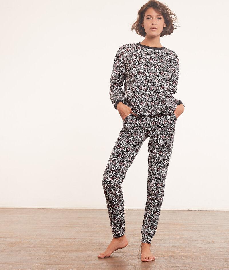 Spodnie od piżamy z nadrukiem;${refinementColor}