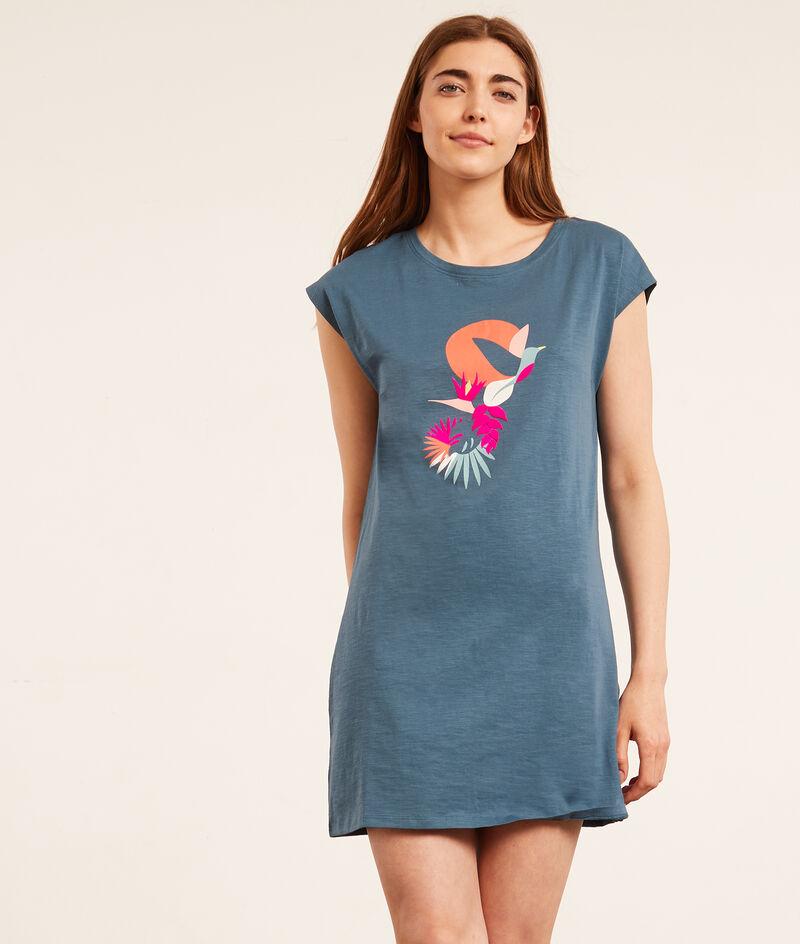 Koszula nocna z napisem 'cool summer';${refinementColor}