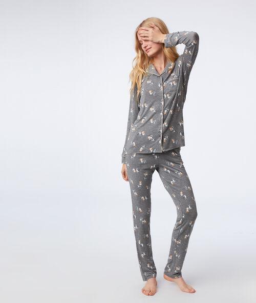 Spodnie od piżamy w kotki