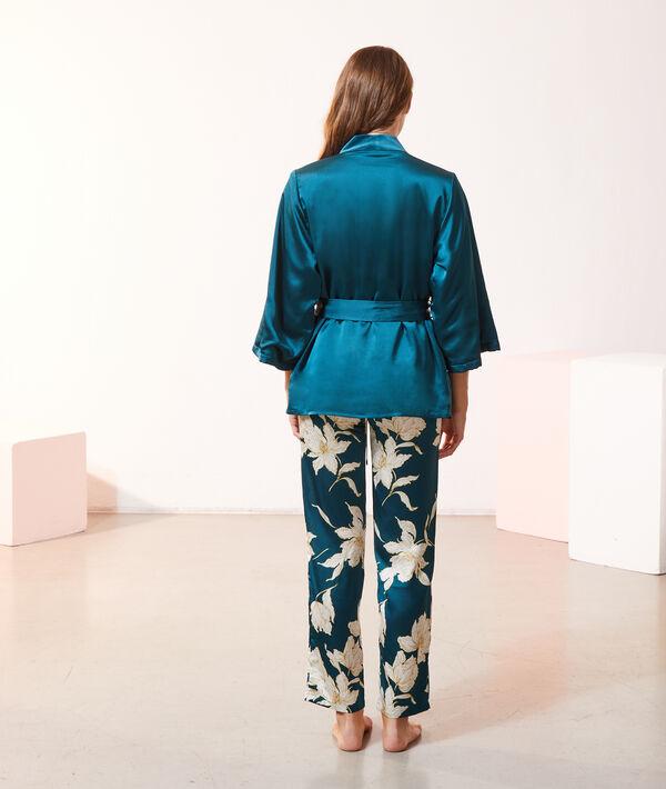 Satynowa piżama trzyczęściowa;${refinementColor}