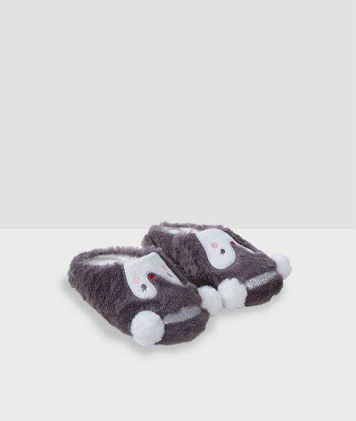 Kapcie pingwinki ze sztucznego futerka
