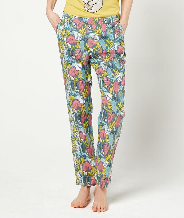 Spodnie z kwiatowym nadrukiem;${refinementColor}