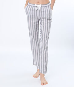 Spodnie od piżamy w paski gris clair.