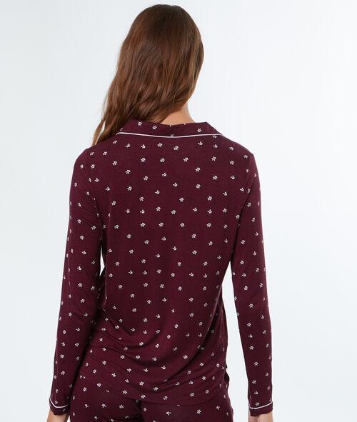 Mięciutka i delikatnie lejąca koszula od piżamy