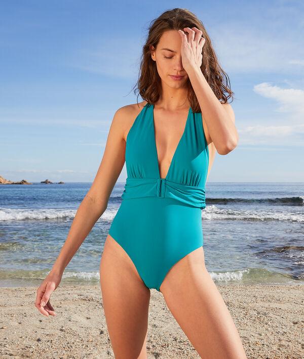 Jednoczęściowy kostium kąpielowy z trójkątnym biustonoszem bez fiszbin;${refinementColor}