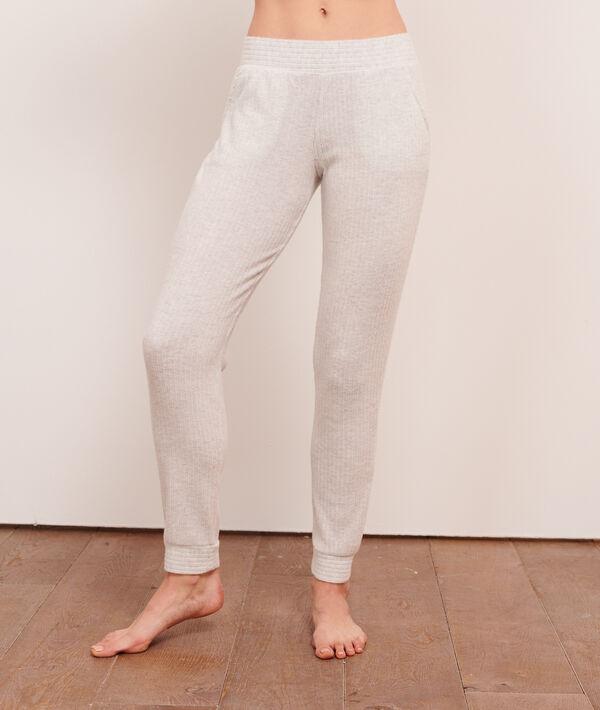 Prążkowane spodnie;${refinementColor}