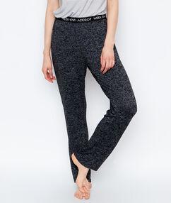 Spodnie homewear z dzianiny noir.