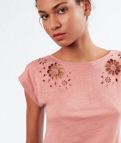 T-shirt z ażurowymi wstawkami rose.