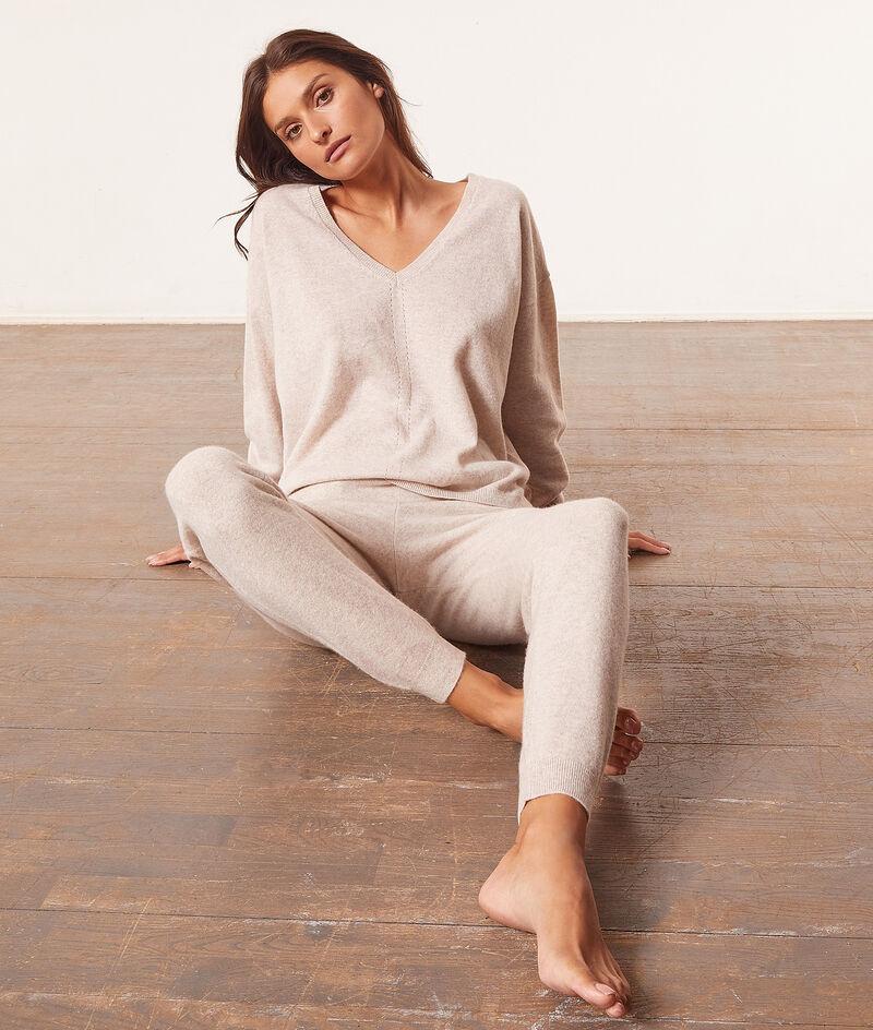 Pantalon de pyjama cachemire;${refinementColor}
