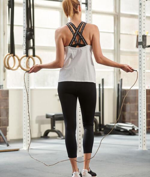 Podkoszulek treningowy z ramiączkami skrzyżowanymi na plecach