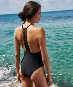 Jednoczęściowy kostium kąpielowy noir.
