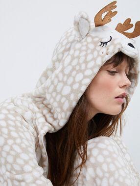 Kombinezon piżamowy żyrafa beige.