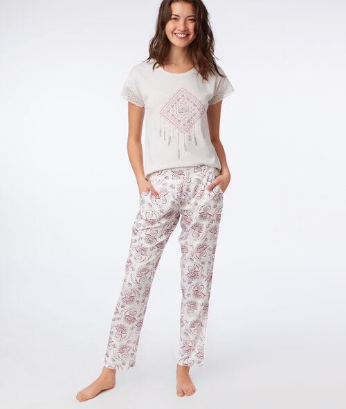 Spodnie z motywem kwiatowym