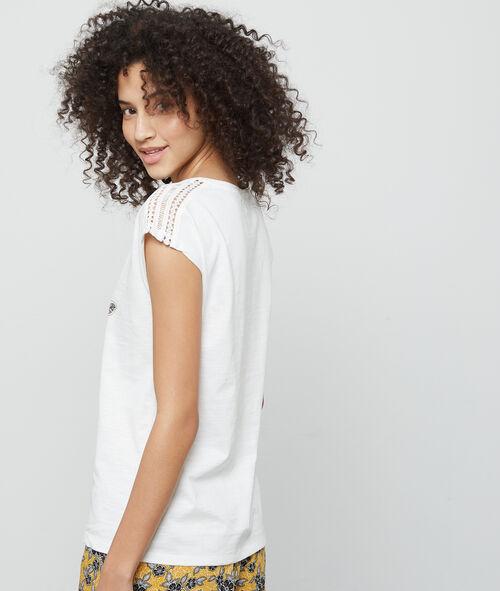 T- shirt z nadrukiem i napisem