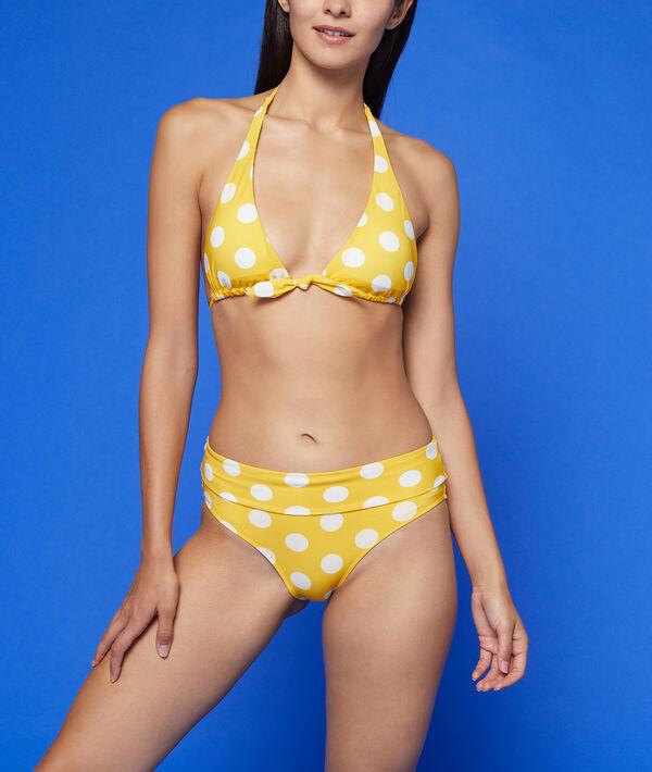 Dół bikini z wielopozycyjnym stanem, deseń w groszki