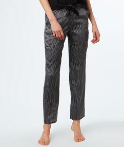 Lejące spodnie z satyny gris.