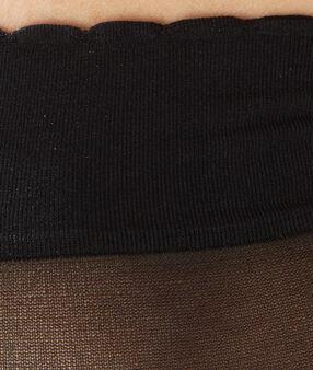 2 pary przezroczystych skarpetek noir.