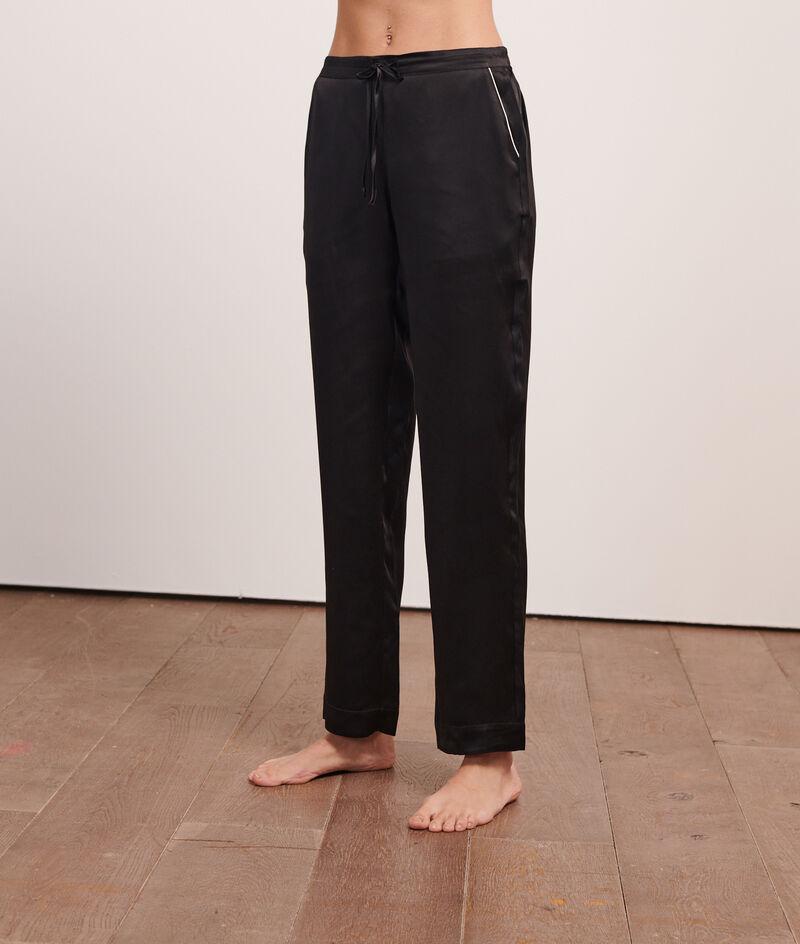Spodnie z jedwabiu;${refinementColor}
