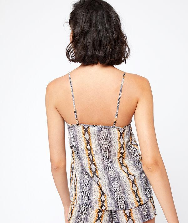 Koszulka w wężowy deseń