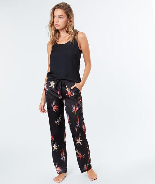 Wzorzyste satynowe spodnie