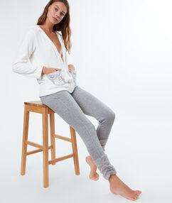Pantalon molleton fourré doudou au bas grey.