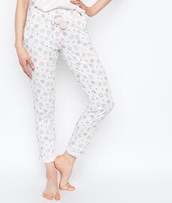 Spodnie w deseń w potworki blanc.