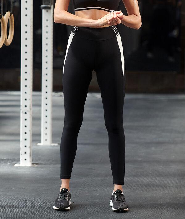 Dwukolorowe legginsy treningowe