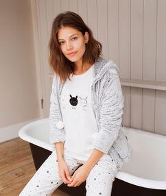 Piżama trzyczęściowa z motywem króliczka blanc.