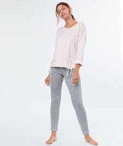 Spodnie typu slim z kieszeniami gris.