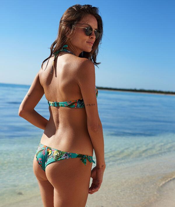 Dól bikini w stylu brazylijskim, tropikalny deseń