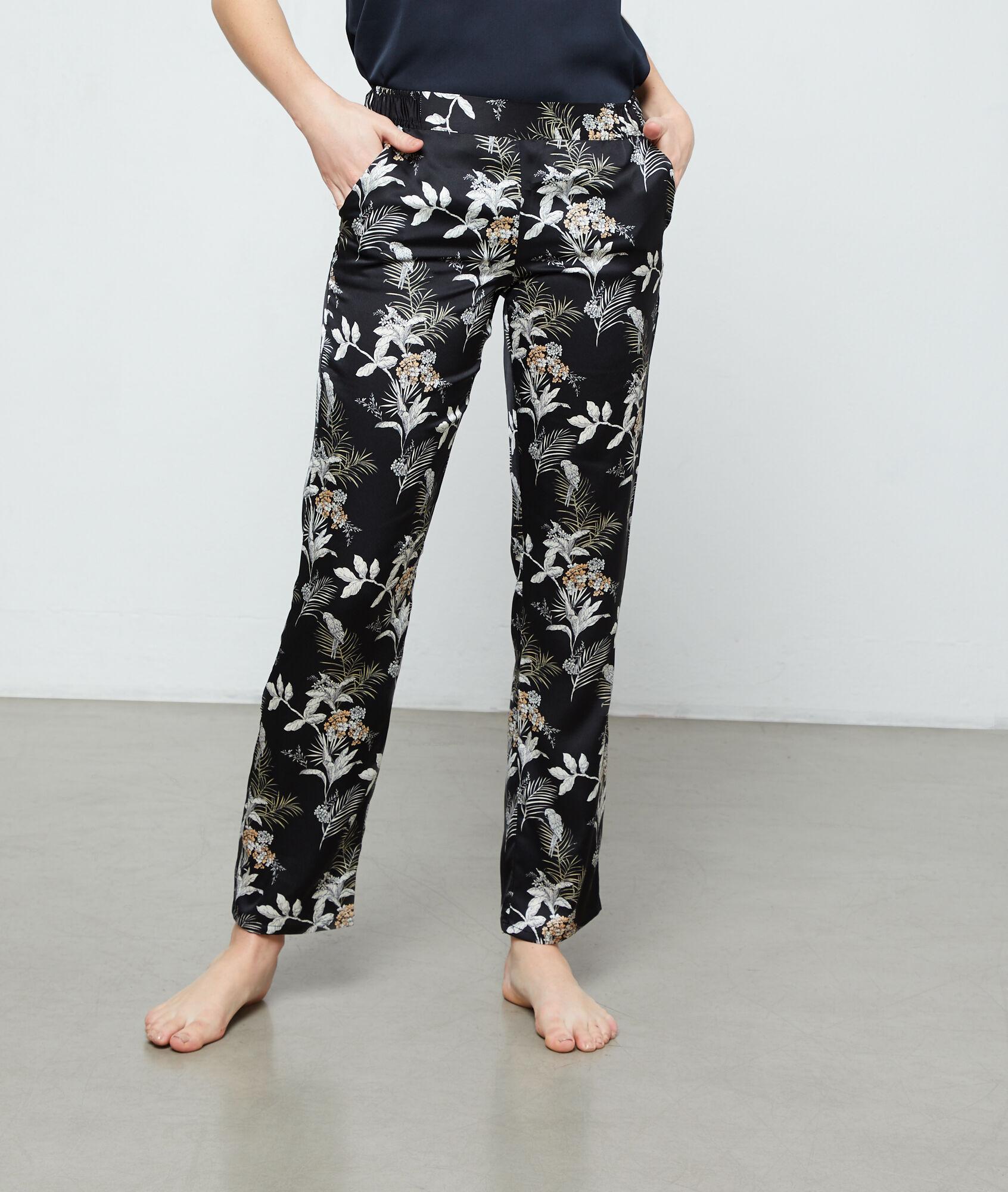 ARA Spodnie z nadrukiem liści