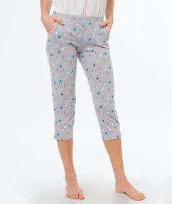 Wzorzyste spodnie 3/4 blanc.