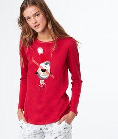 Wzorzysty t-shirt  rouge.